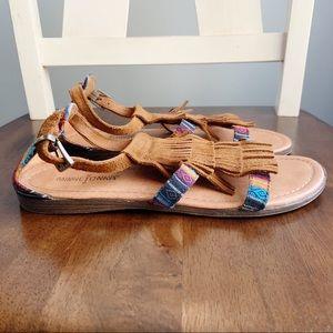 Minnetonka Shoes - Minnetonka fringe serape sandals